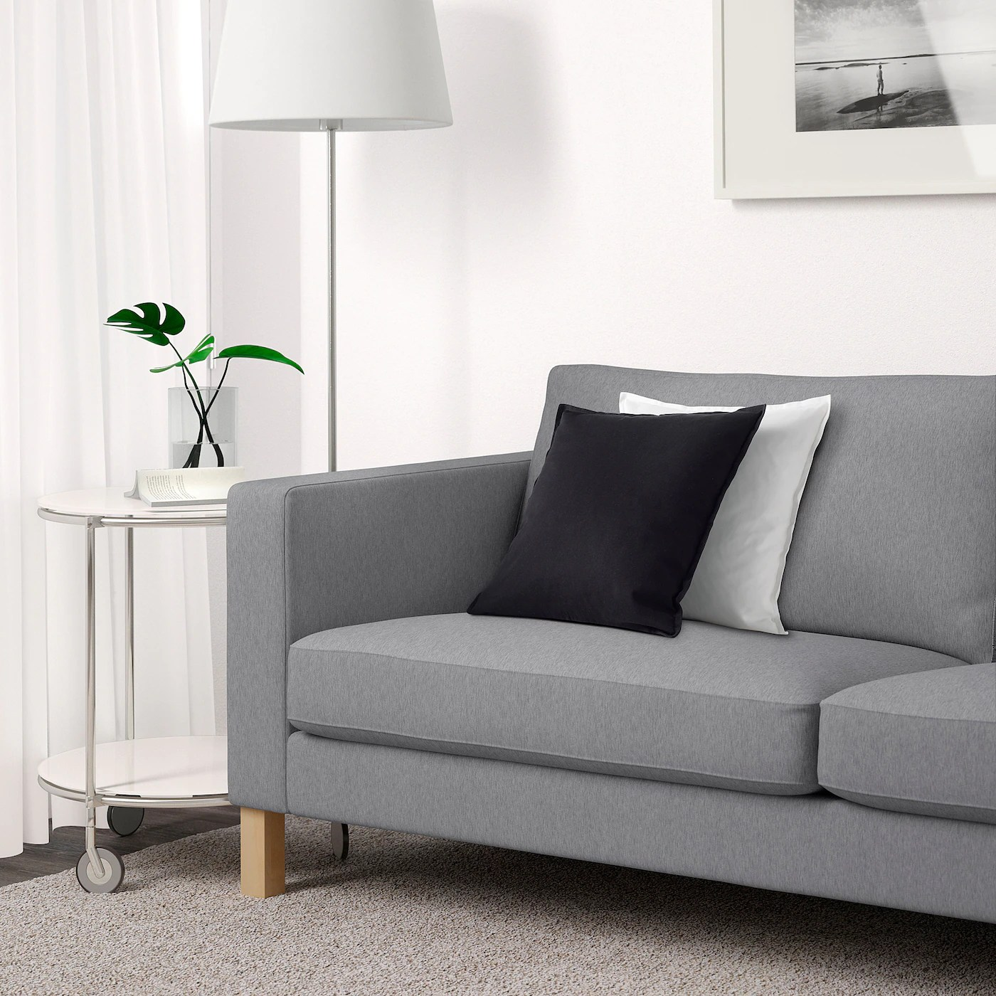 Sofa 2 Sitzer Ikea Karlstad Sofa, Knisa Light Gray - Ikea