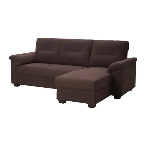 Knislinge Sofa Knislinge Sectional, 3 Seat Right - Samsta Dark Brown - Ikea