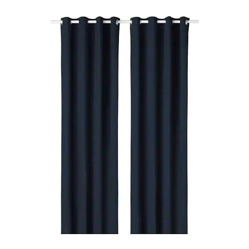 "Overgordijnen Ikea Merete Room Darkening Curtains, 1 Pair - 57x118 "" - Ikea"