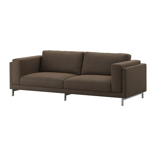 Ikea Nockeby Sofa Nockeby Sofa - Tenö Brown/chrome Plated - Ikea