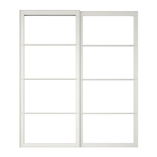 Schiebeschrank Ikea Pax Pair Of Sliding Door Frames & Rail - 78 3/4x92 7/8 ...