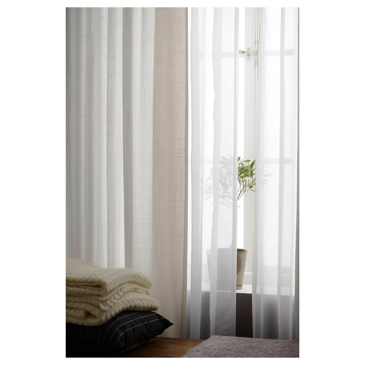 Ritva Curtains With Tie Backs 1 Pair White 57x118 - Ikea Wili Vorhang