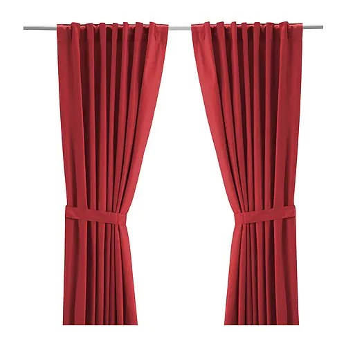Ikea Vorhänge Rot Ritva Curtains With Tie-backs, 1 Pair - Ikea