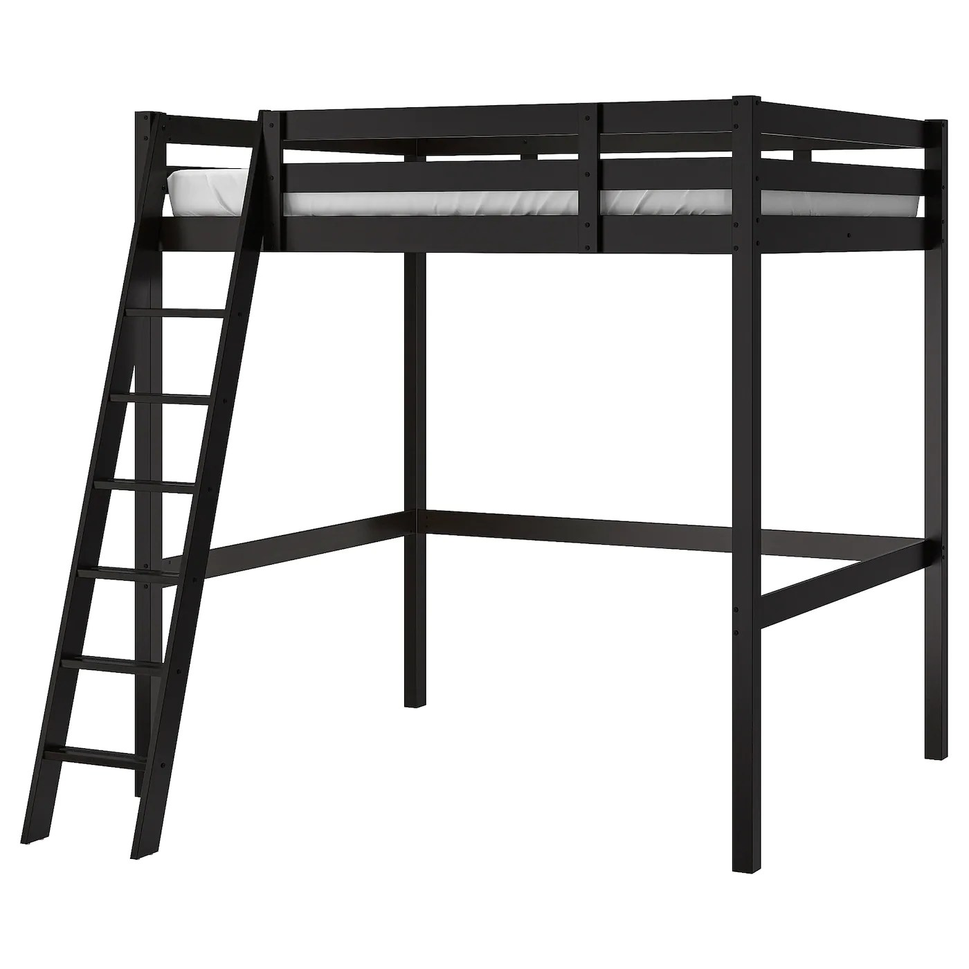 StorÅ Loft Bed Frame Black Full Double Ikea