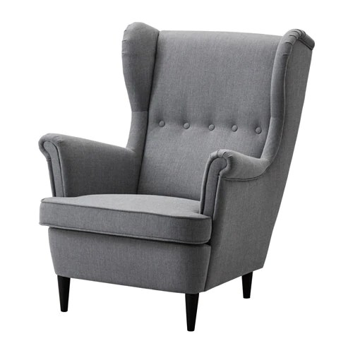 Strandmon Sessel Ikea Strandmon Wing Chair - Nordvalla Dark Gray - Ikea