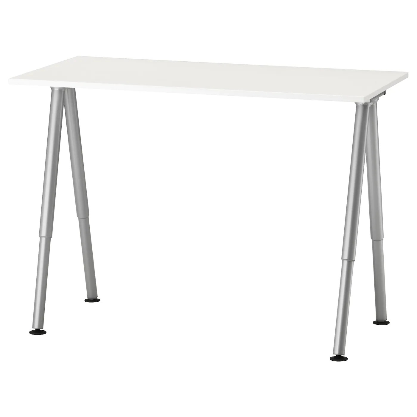 Ikea Galant Bureau Thyge Desk White Silver Color