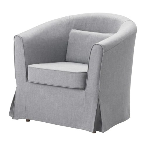 Ikea Tullsta Tullsta Chair Cover - Nordvalla Medium Gray - Ikea