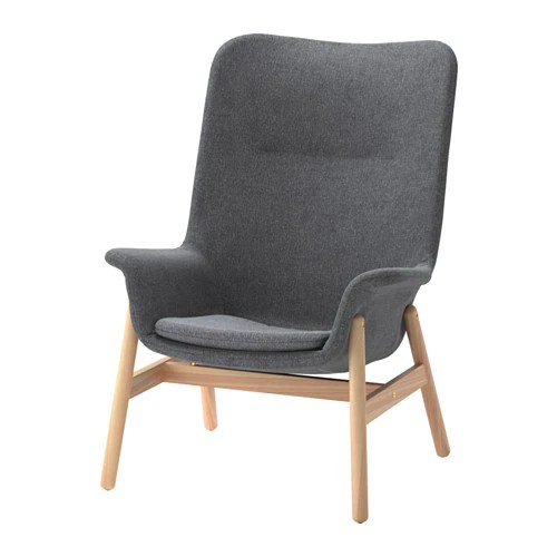Ikea Sessel Klein Vedbo Armchair - Gunnared Dark Gray - Ikea