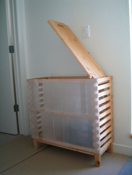 Ikea Glass Desk How's This For A Big Capacity Laundry Bin? - Ikea Hackers