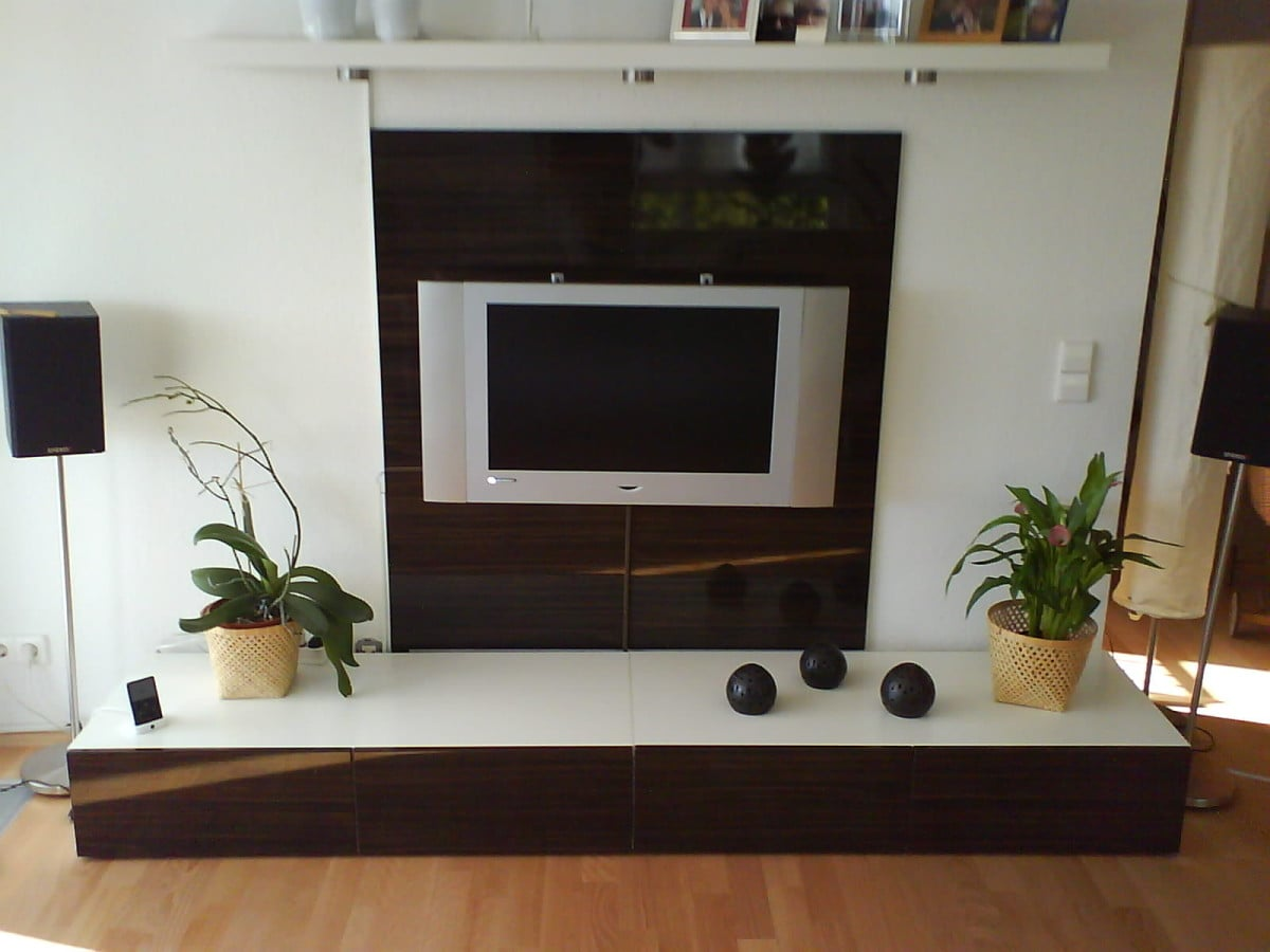 Tv Paneel Ikea A Flat Tv Wall Combo Unit Ikea Hackers Ikea Hackers