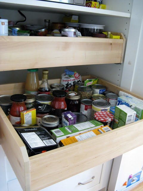 Deep Kitchen Cabinet Storage Ideas Customized Kitchen Pantry - Ikea Hackers