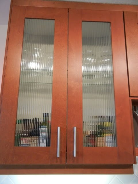 Kitchen Wall Cabinets With Glass Doors Custom Reed Glass In Adel Cabinets - Ikea Hackers - Ikea
