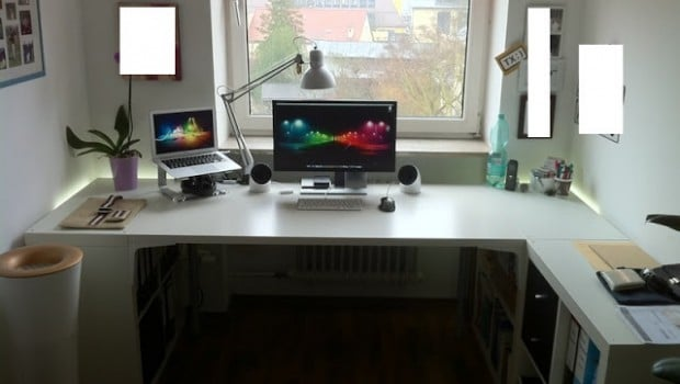 Ikea Linnmon Corner Desk Expedit + Vika Amon Desk To Fit My Office Perfectly - Ikea