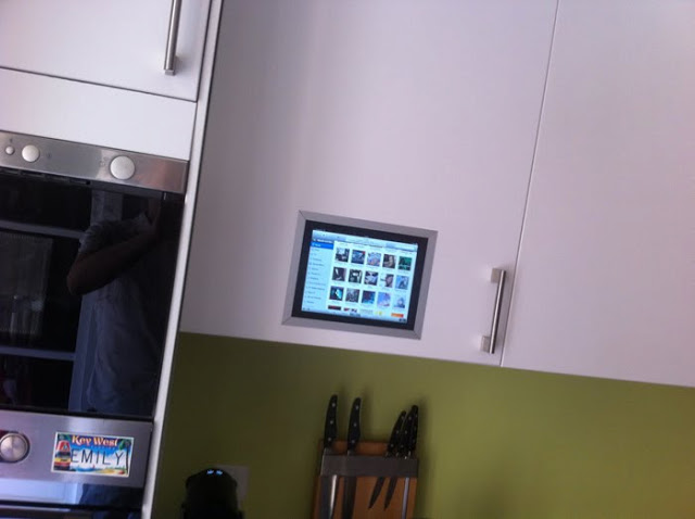 Kitchen Cabinet Door Hinge Covers Ipad Flush Mounted In Kitchen Cabinet - Ikea Hackers