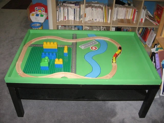 Ikea Lack Ideas Super-cool Lego And Train Table - Ikea Hackers - Ikea Hackers