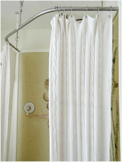 Sniglar Crib Turn A Throw Blanket Into A Shower Curtain - Ikea Hackers