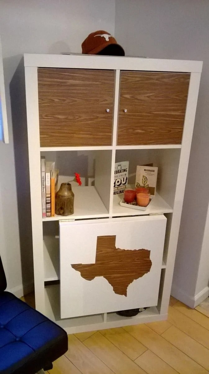 Ikea Lack Upgrade Expedit Drop Leaf Table: Texas Style - Ikea Hackers