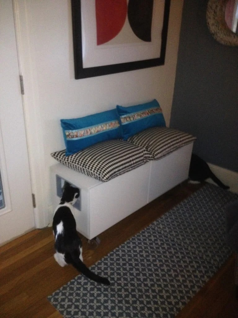 Ikea Chat Hidden Cat Litter Boxes With Ikea BestÅ Cabinet - Ikea Hackers