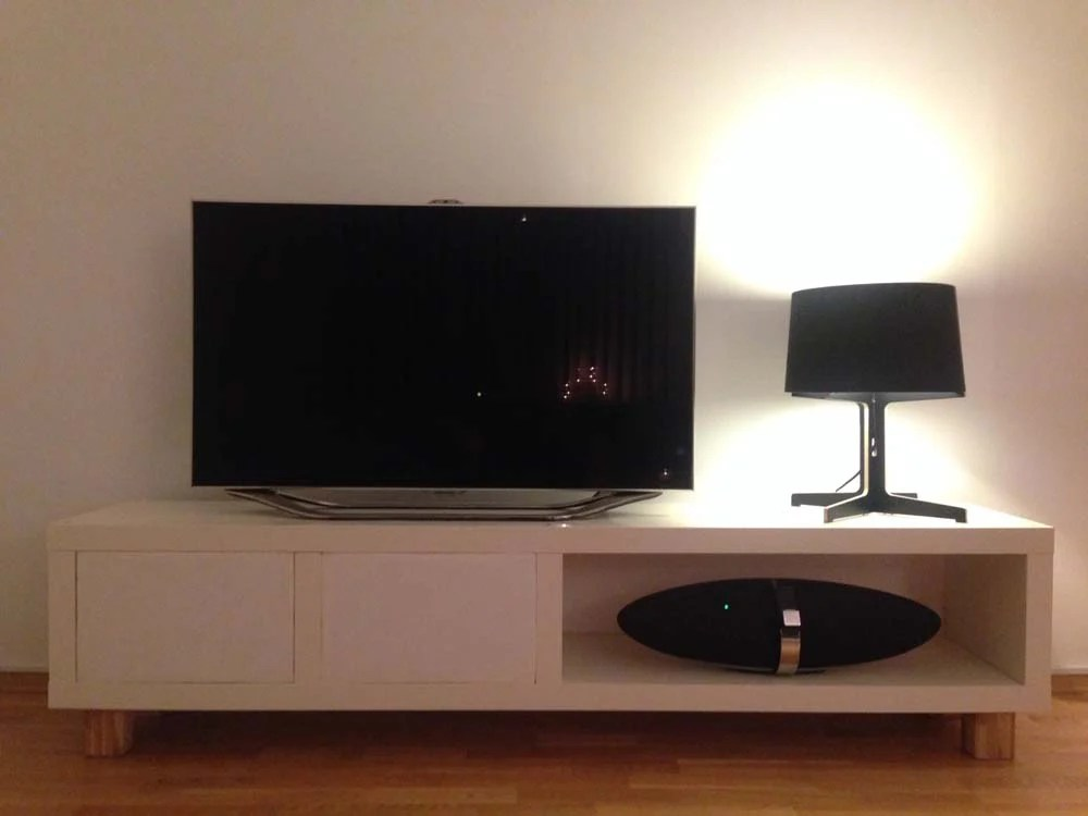 Dining Room Lighting Ikea Tv Bench From Lack Shelf, Hiding Devices And Wires - Ikea