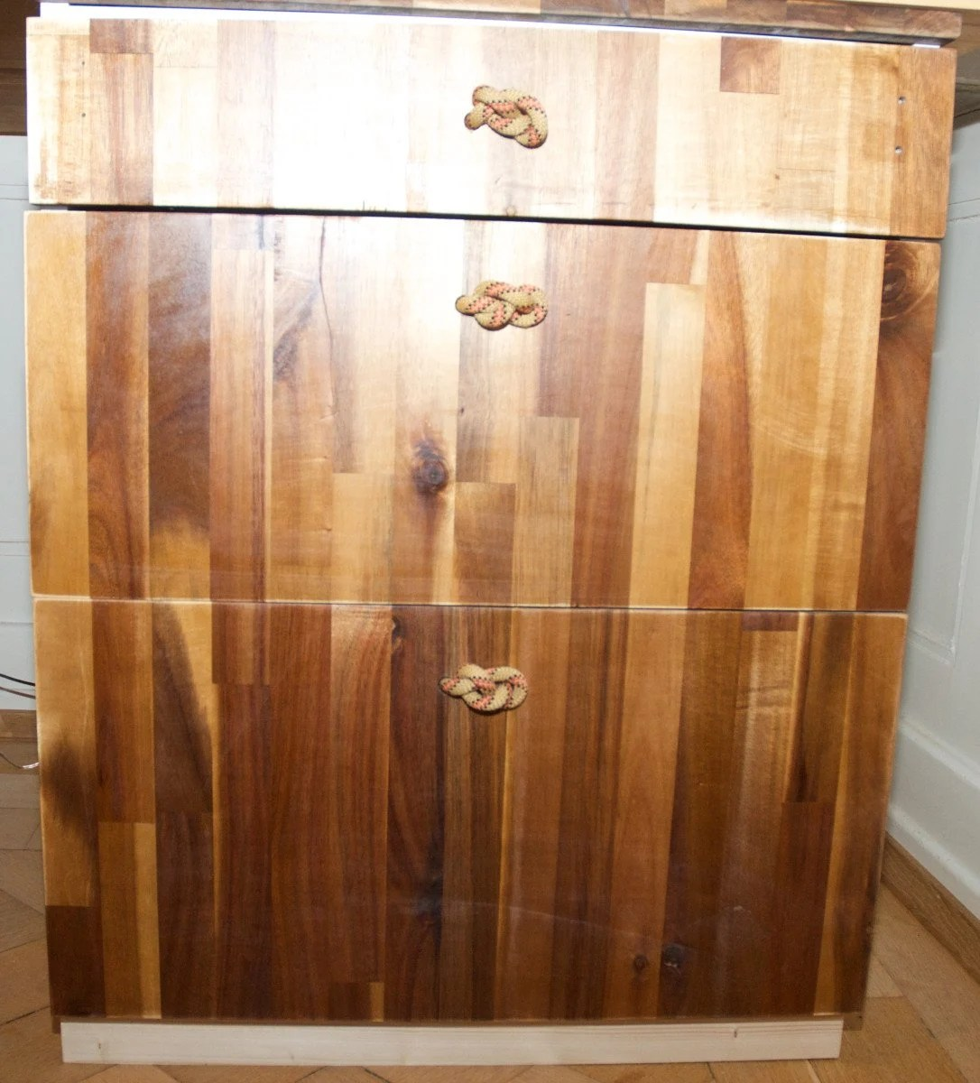 Ikea Faktum Fronten Custom Front To Faktum Cabinet With Climbing Rope Knot As Drawer