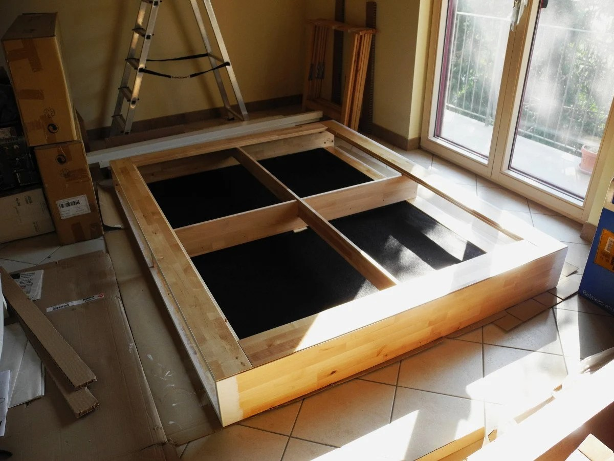 Ikea Mandal Frame Mandal Madness Turn Your Bed Into A Storage Bed And Get An