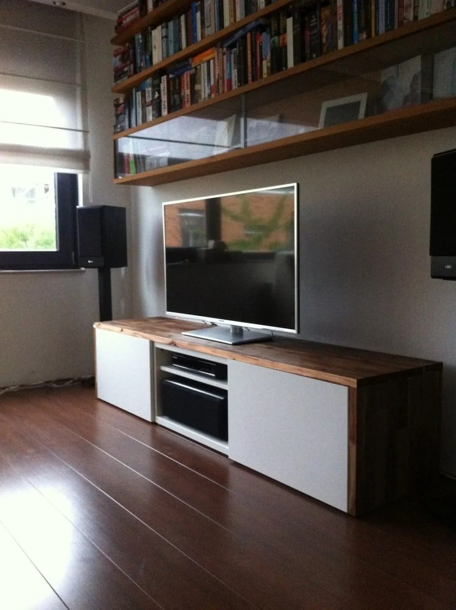 Ikea Furniture Tv Stand Stylish Tv Audio Cabinet - Ikea Hackers