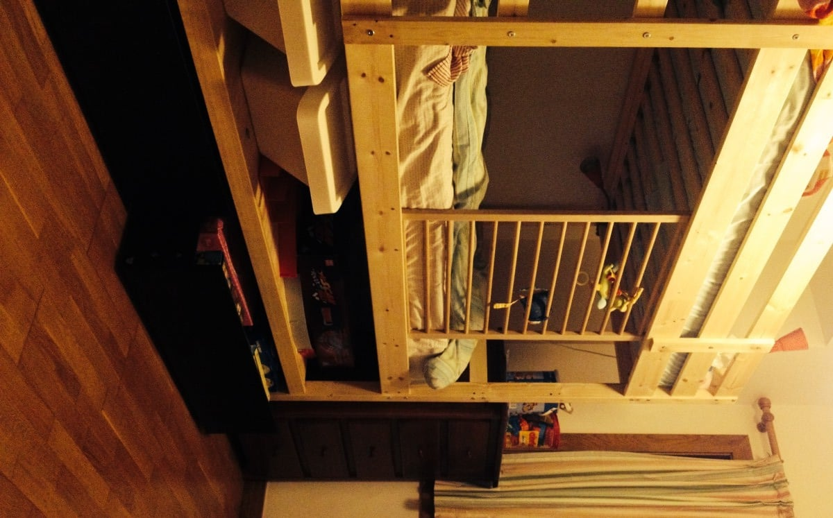 Malm Mydal Bunk Bed Hack: Added Height, Shelf And Malm Drawers