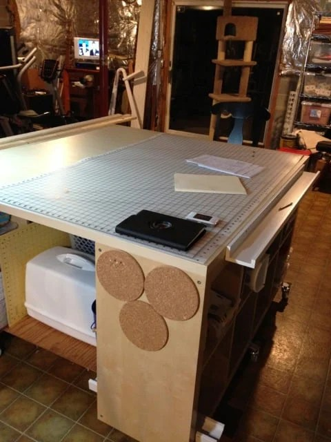 Ikea Ribba Shelf Craft / Sewing / Work Table Hack - Ikea Hackers