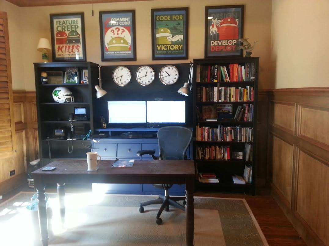 Ikea Expedit Office Office Workstation From Two Hemnes Bookcases And Large