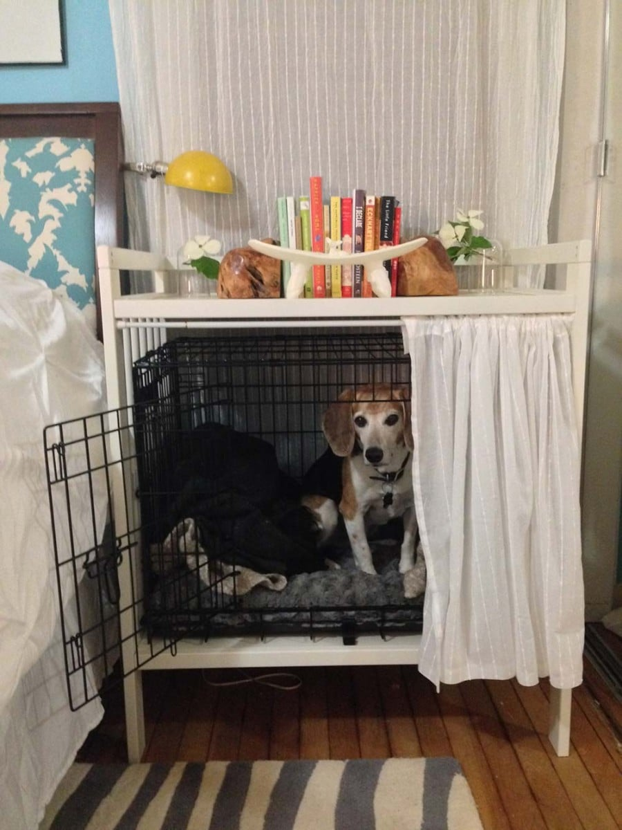 Ikea Window Panels Dog Crate And Bedside Table - Ikea Hackers - Ikea Hackers