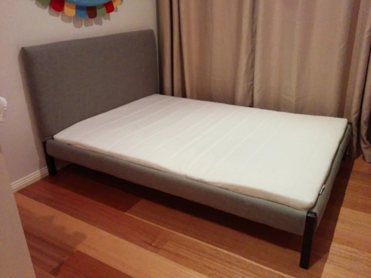 Double Beds Ikea Dalselv Bed Gets Cushy New Life Ikea Hackers