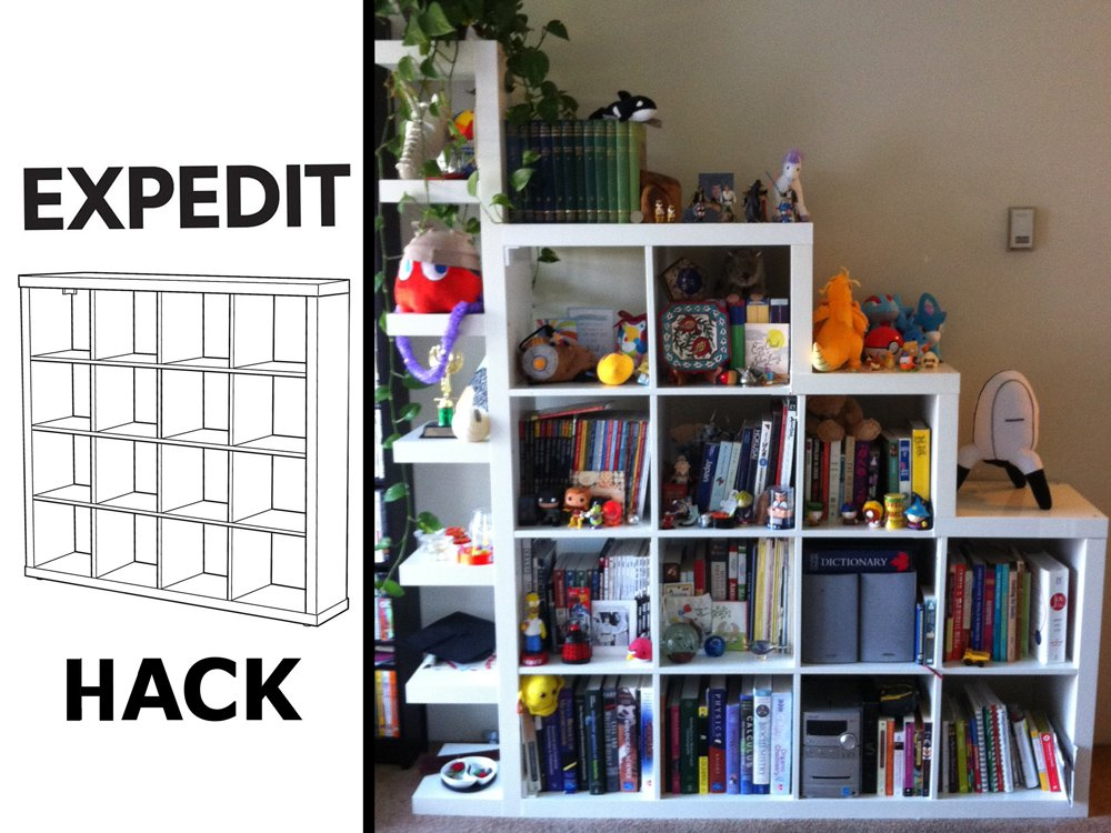 Ikea Hacks Lack The De-squaring And Shelf-itizing Of An Expedit Unit