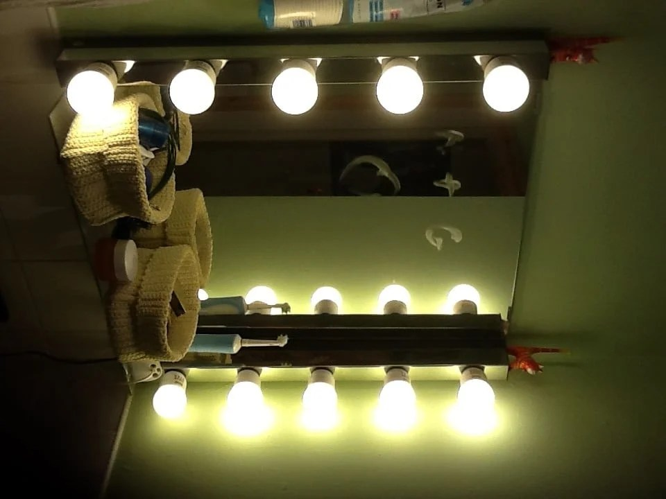 Mirror With Lights Ikea Glamorize Your Bathroom Mirror - Ikea Hackers