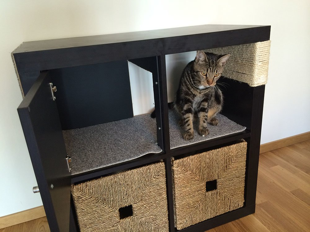 Ikea Chat Kallax Cat Scratching Furniture - Ikea Hackers