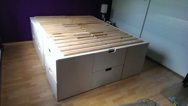 Bett Podest A Captain Bed With Extra Storage Place - Ikea Hackers
