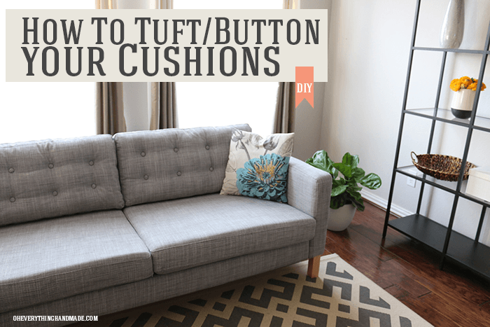 Karlstad Sofa How To Tuft/button Your Cushions - Ikea Hackers
