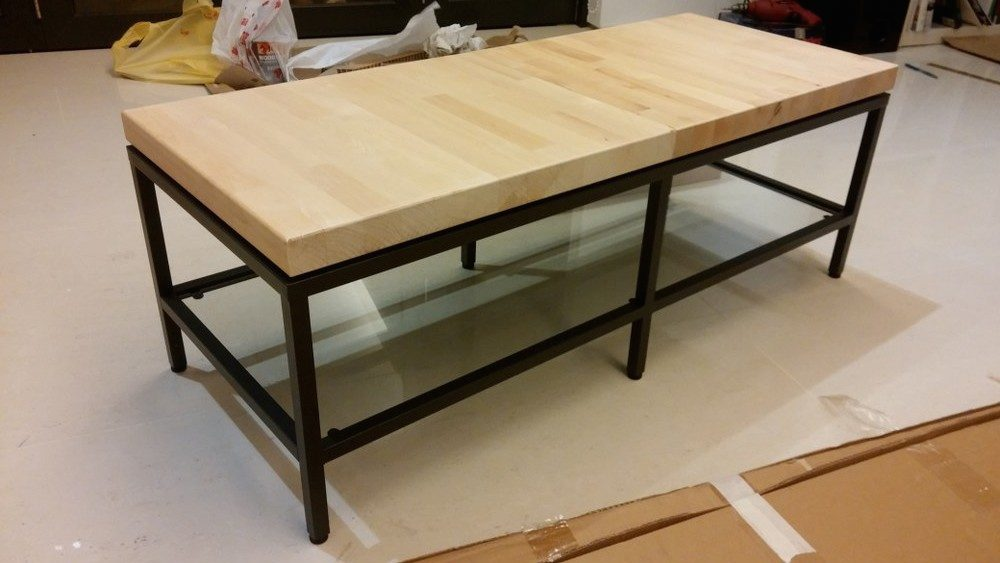 Ikea Vittsjo Coffee Table Contemporary Wooden-top Tv Bench - Ikea Hackers
