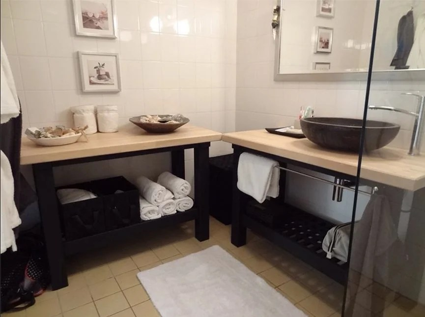 Evier Encastrable Ikea Spa Style Bathroom For Renters - Ikea Hackers