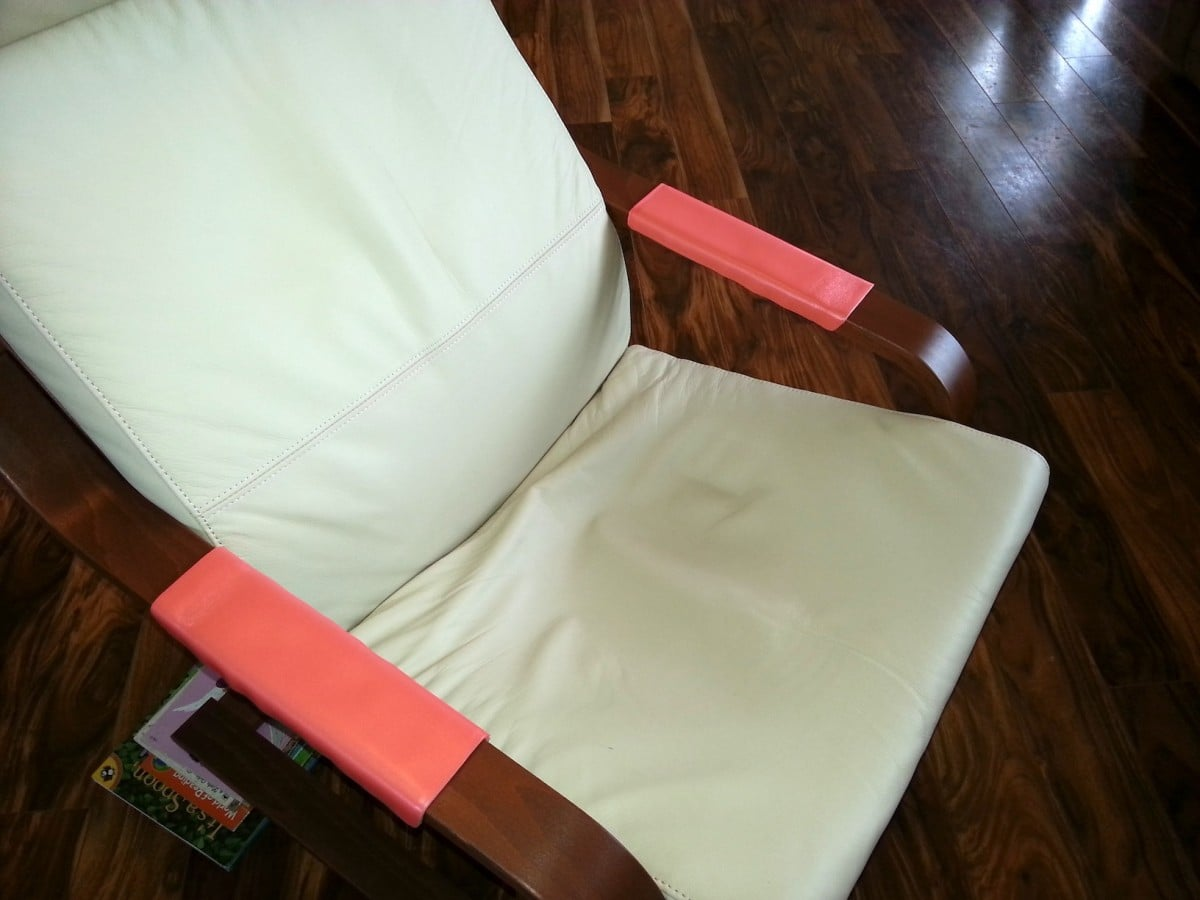 Couch Arm Covers How To Make How To Pad Your Poang Armchair Armrest Ikea Hackers