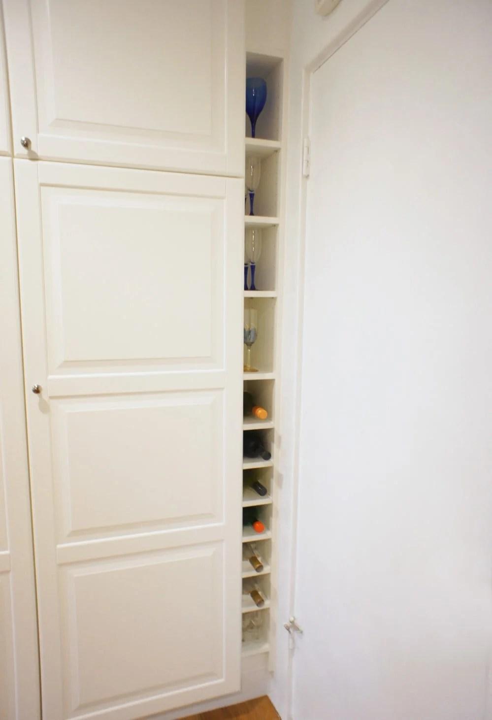IKEA BILLY Bookcase to slim wine rack