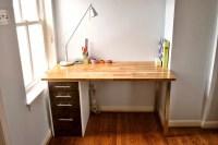 Custom Beech and Maple Desk - IKEA Hackers
