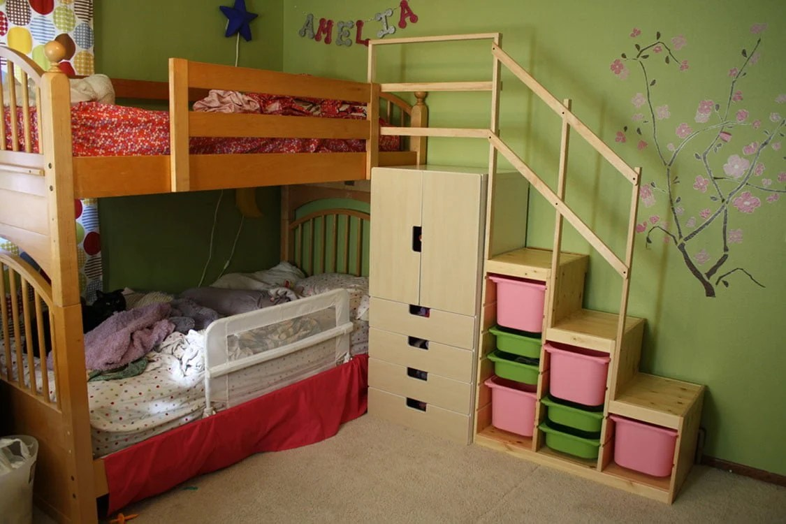 Ikea Kinderzimmer Stuva Planer Easy Full Height Bunk Bed Stairs Ikea Hackers