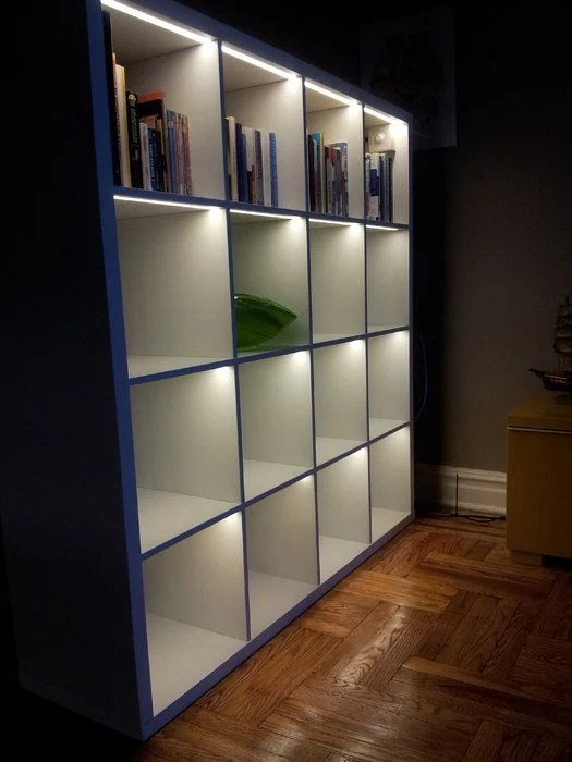 8 Cube Organizer Ikea Light Up The Kallax! - Ikea Hackers