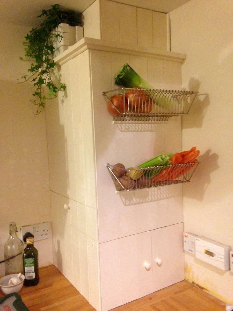 Malm Regal Fintorp Dish Drainer Becomes Wall Fruit Basket - Ikea Hackers