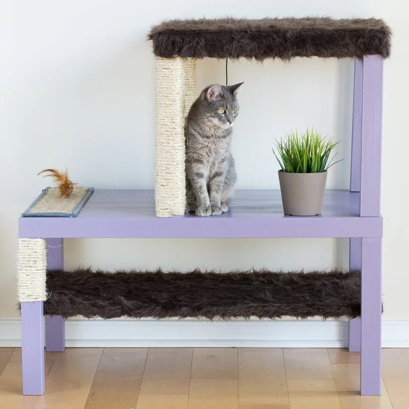Ikea Cat Tree Make A Homemade Cat Condo Using Lack Tables - Ikea Hackers
