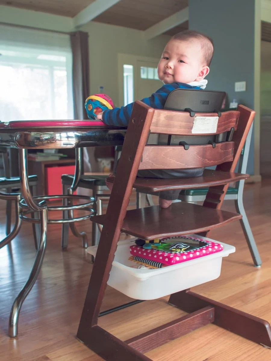 Ikea High Table Stokke Tripp Trapp High Chair With A Cheap Trofast Storage