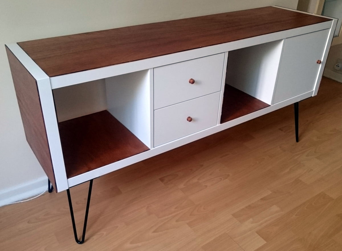 Ikea Credenza Kallax Grows Up To Be A Glamorous Credenza Ikea Hackers