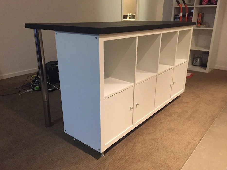 Ikea Adjustable Table Legs Cheap, Stylish Ikea Designed Kitchen Island Bench For