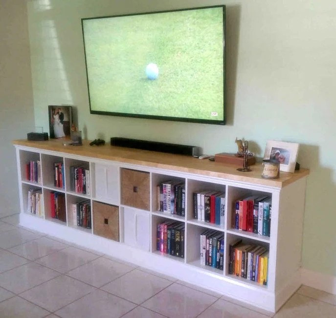 Regal Ideen Wohnzimmer Expedit Entertainment Center - This Is How To Diy - Ikea