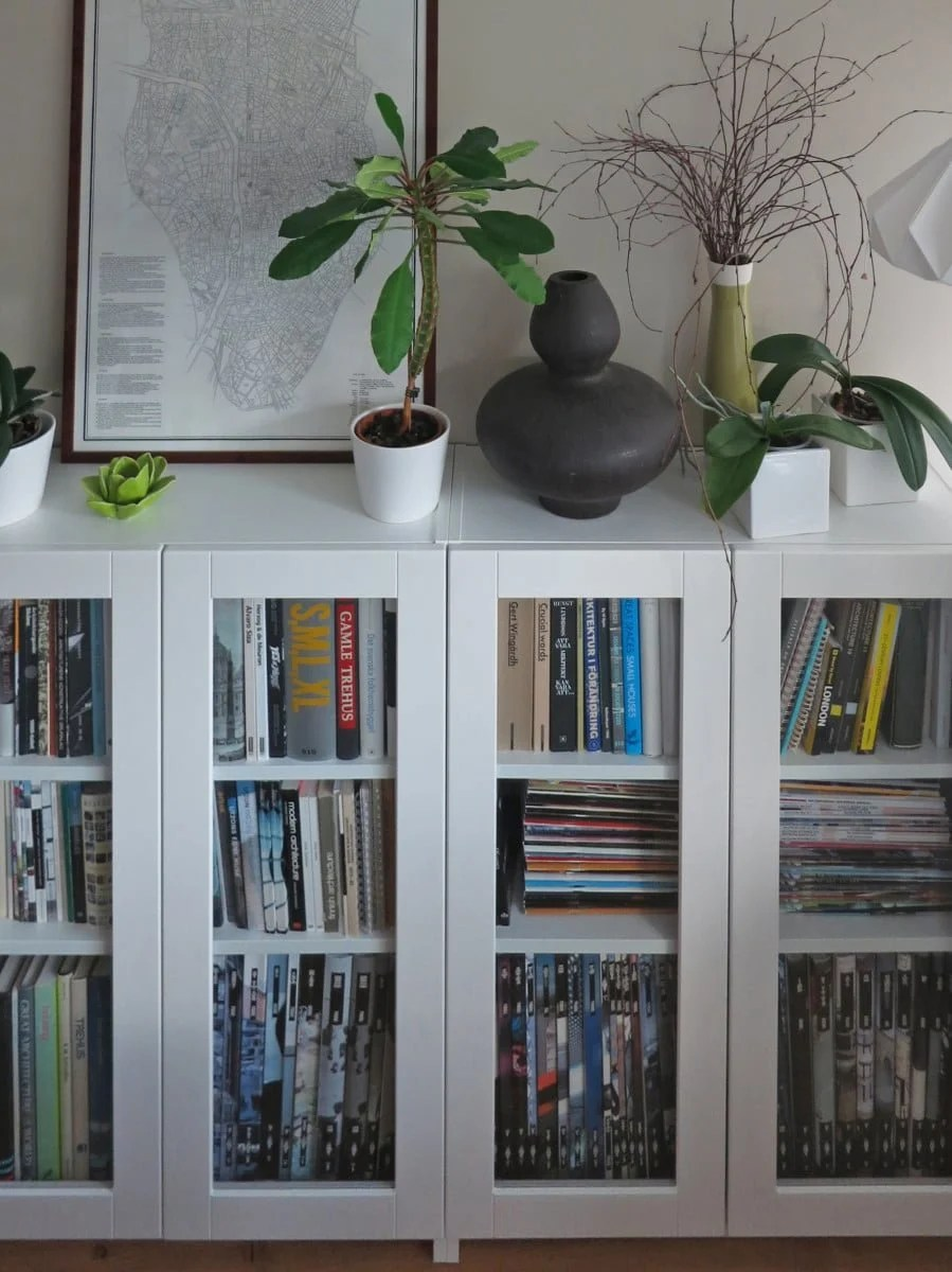 Ikea Lonset Billy Bookcases With GrytnÄs Glass Doors - Ikea Hackers